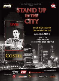 Stand Up in the city cu Costel pe 8 martie in Club Bulevard
