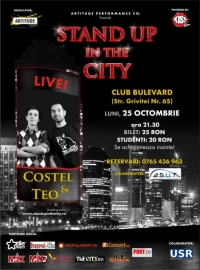 Stand Up In The City cu Teo si Costel pe 25 octombrie