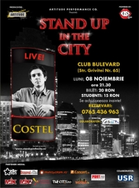 Stand Up In The City alaturi de Costel pe 8 noiembrie