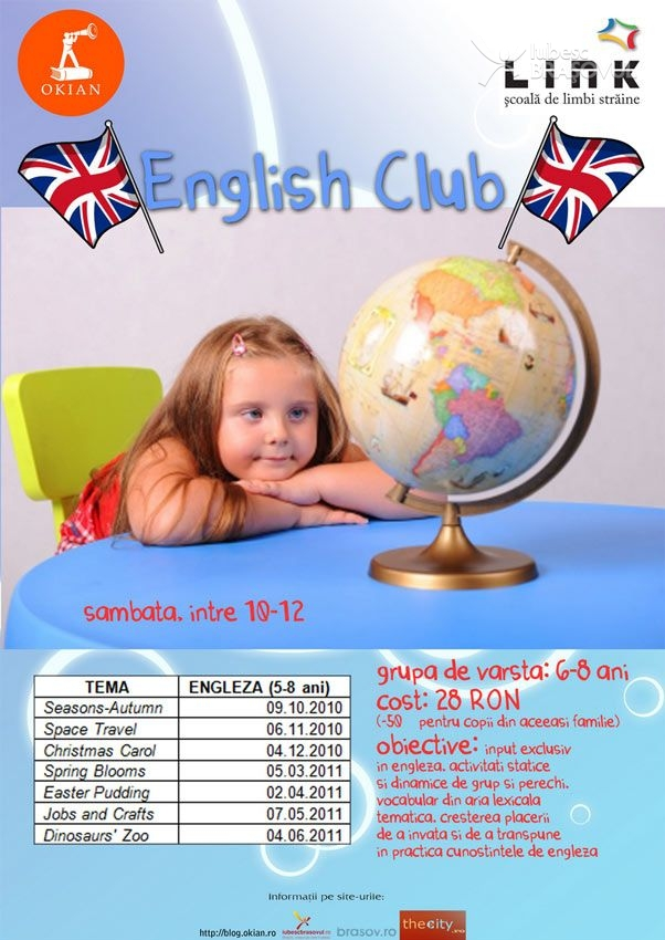 """English club"" pentru copii in libraria Okian"