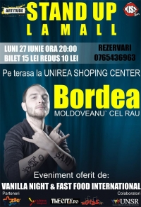 Bordea - moldoveanu' cel rau, face stand up la mall in Brasov