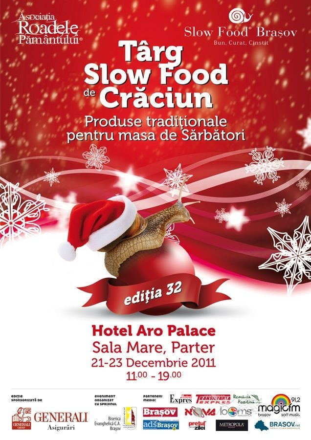 Targ de Craciun Slow Food, la Hotel Aro Palace, 21-23 decembrie