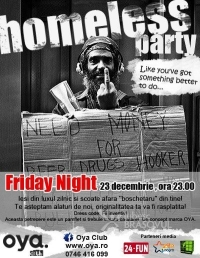 Homeless party in Oya club