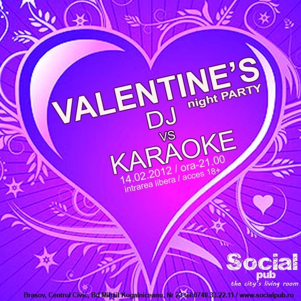 Valentine's Night Party - DJ vs Karaoke in Social Pub