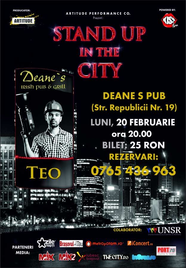 Stand-up comedy cu Teo in Deane's
