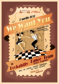 We Want You in Rockabilly Dance Team, incepand din 7 aprilie