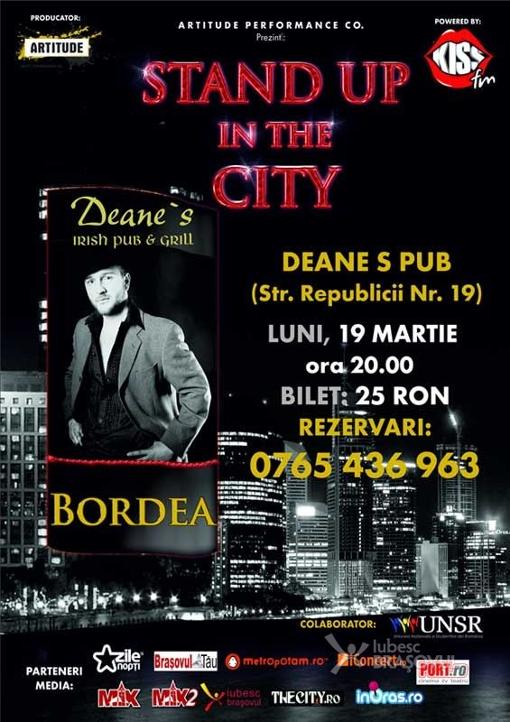 Bordea face stand-up comedy in Deane's