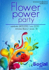 Flower Power party in Social Pub