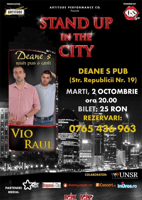 Stand Up In The City Brasov cu Vio si Raul