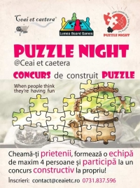Puzzle night in Ceai et caetera