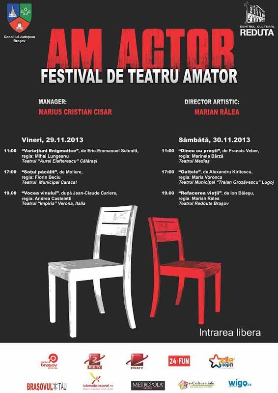 "Festivalul de teatru amator ""AM ACTOR"""