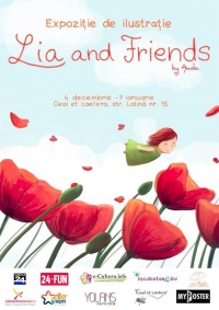 Lia and Friends – expoziție de ilustrație