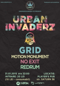 Urban Invaderz -  Drum&Bass party - Grid / Motion Monument / NoExit / Redrum