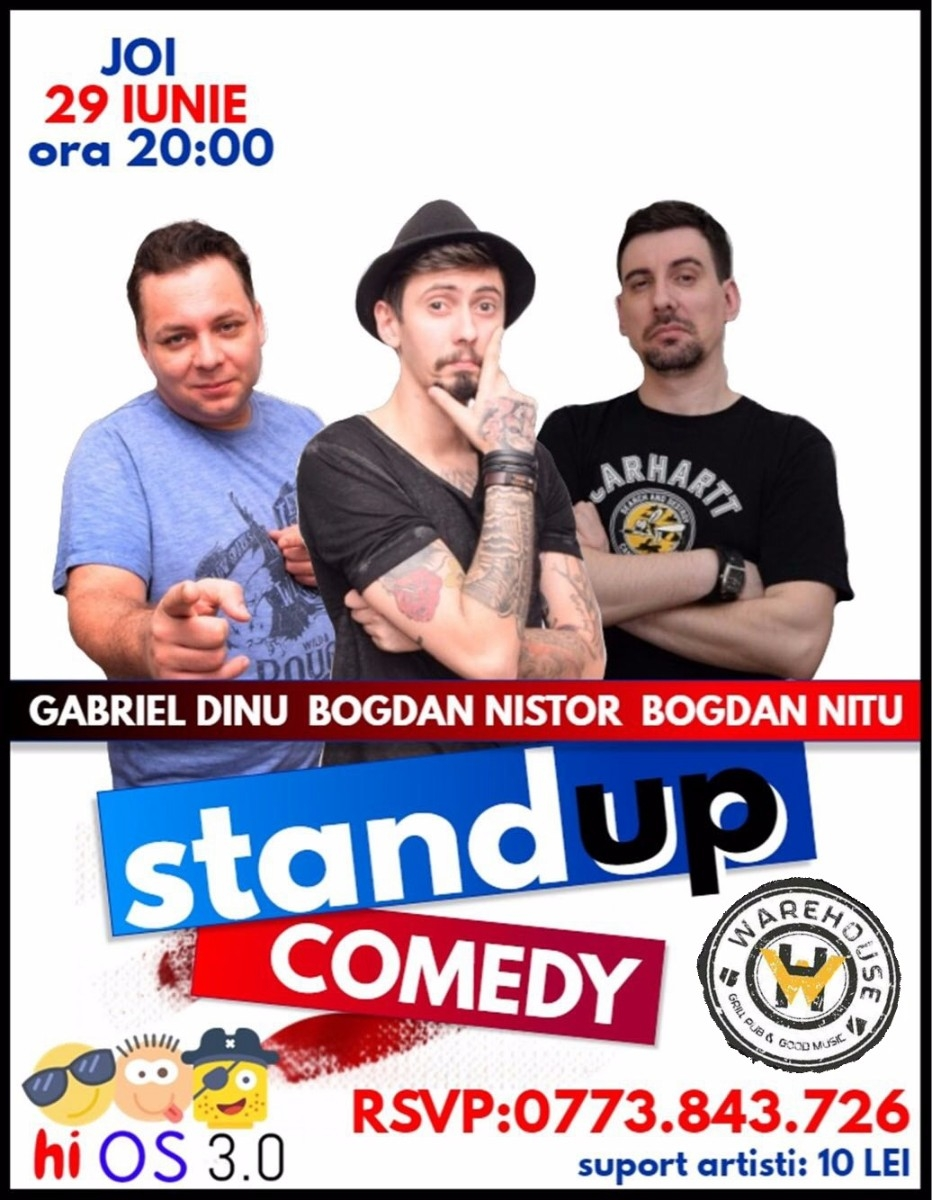 Hi OS 3.0 // Stand-Up Comedy // Warehouse Pub Brasov