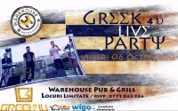 Seara Greceasca // GreeK 4U Live Band la Warehouse Pub