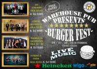4 Days of Burger Fest by Warehouse Pub / Live Music & Deejay
