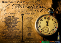 Happy New Year 2018 / Warehouse Pub