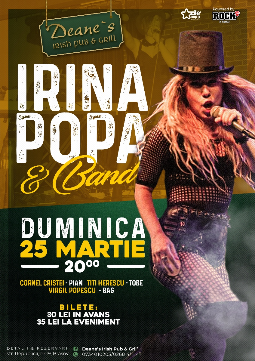 irina popa band lansare cd let the music out concert party
