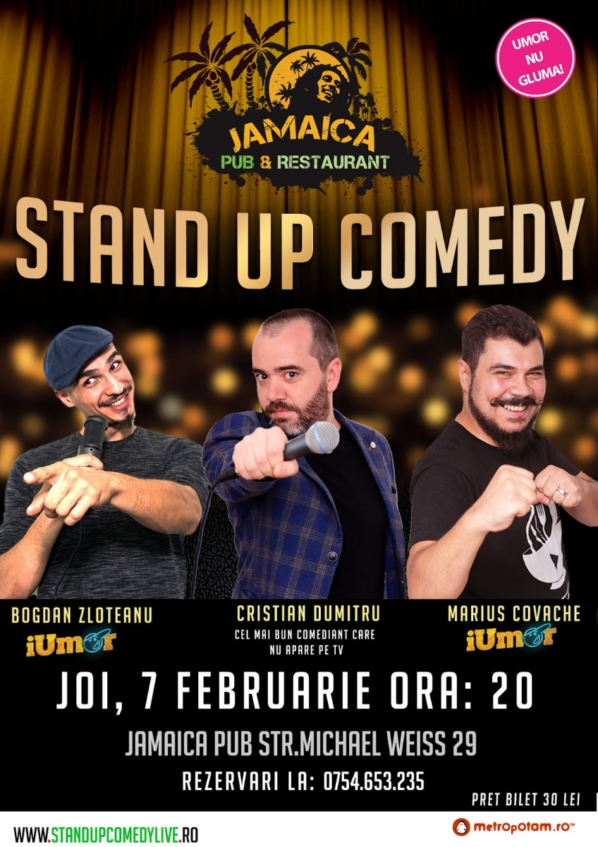 Stand-Up Comedy Brasov, Joi 7 Februarie 2019