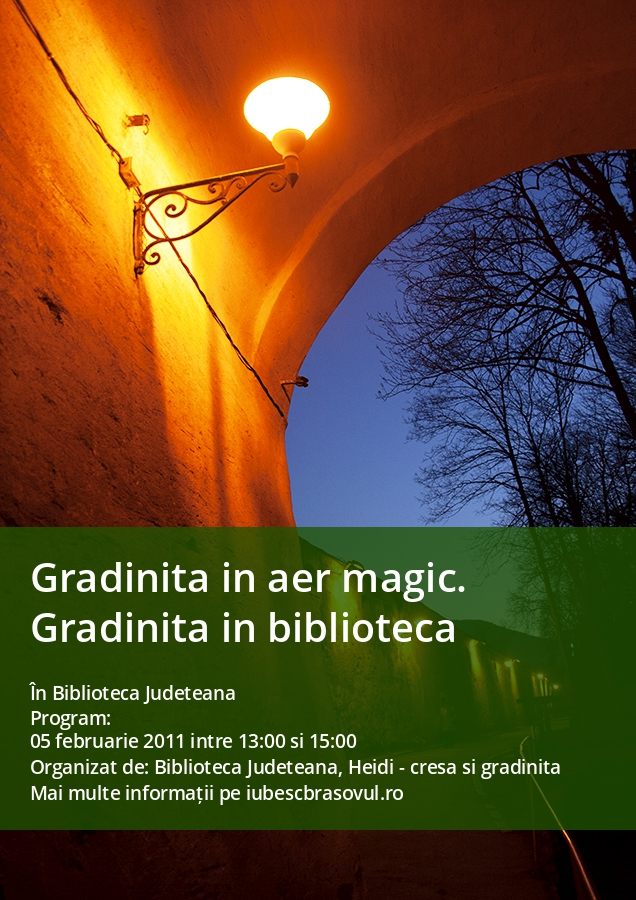 Gradinita in aer magic. Gradinita in biblioteca