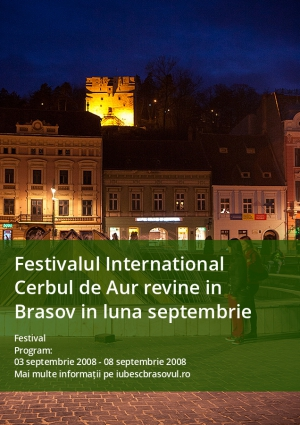Festivalul International Cerbul de Aur revine in Brasov in luna septembrie