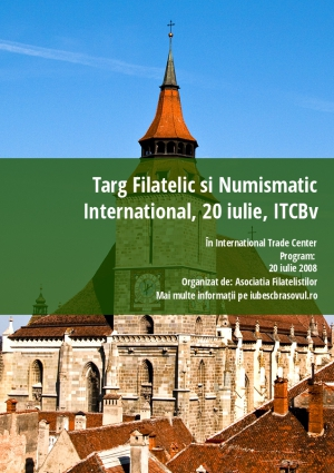 Targ Filatelic si Numismatic International, 20 iulie, ITCBv